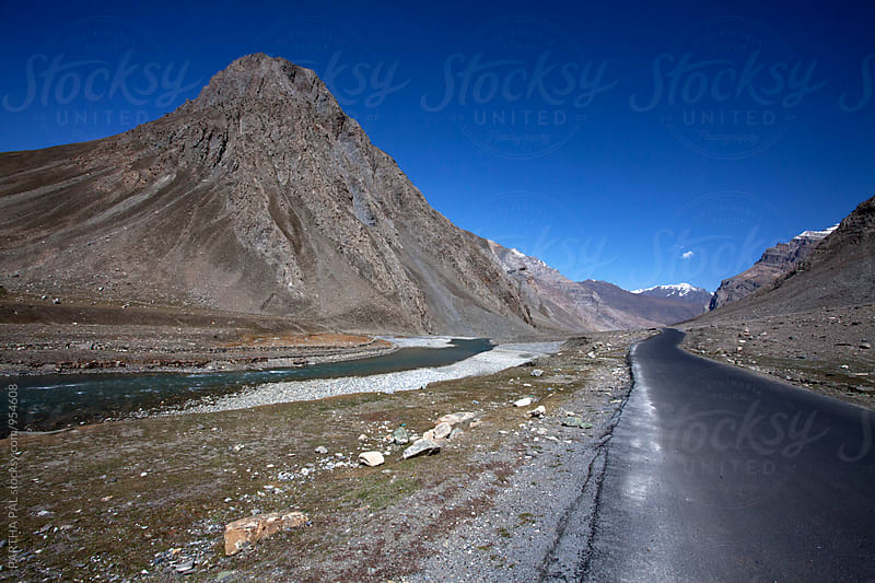Road view of Ladakh,India by PARTHA PAL for Stocksy United