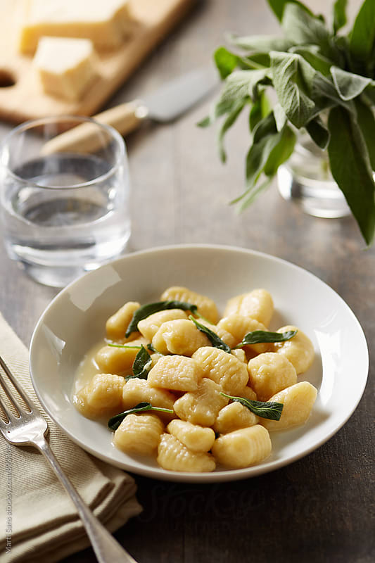 Traditional gnocchi on plate by Martí Sans for Stocksy United