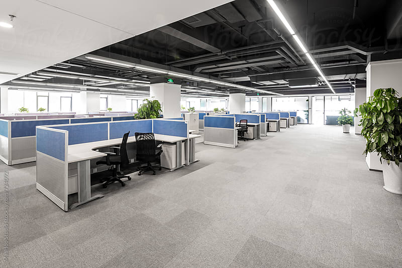 Large empty open office by MaaHoo Studio for Stocksy United