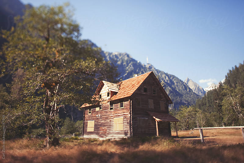 Backcountry Cabin by Carl Zoch for Stocksy United