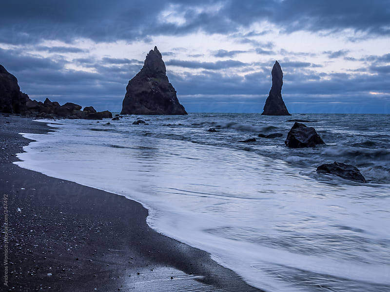 Volcanic beach in southern Iceland near Vik by Andreas Wonisch for Stocksy United