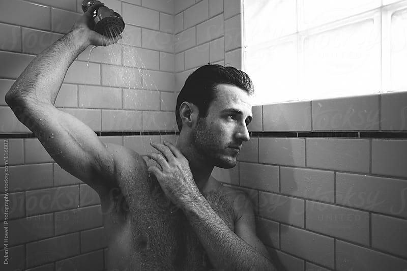 in the shower by Dylan M Howell Photography for Stocksy United
