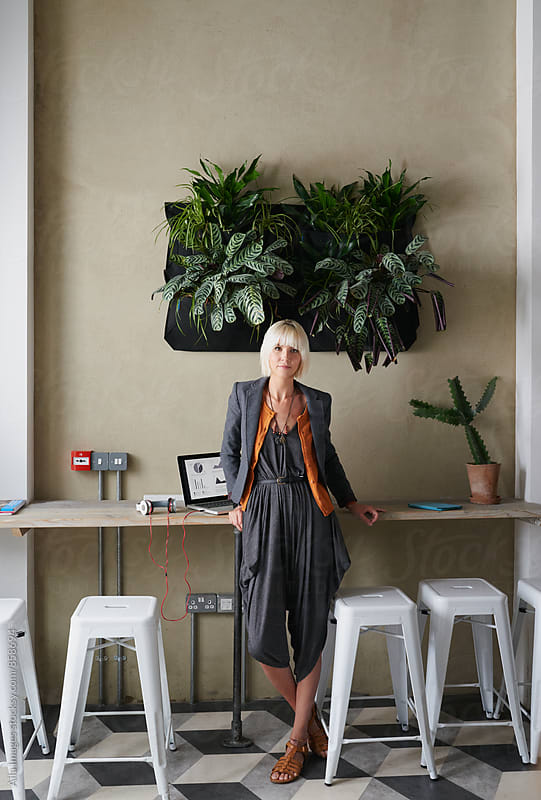 Portrait of beautiful blonde businesswoman by Aila Images for Stocksy United
