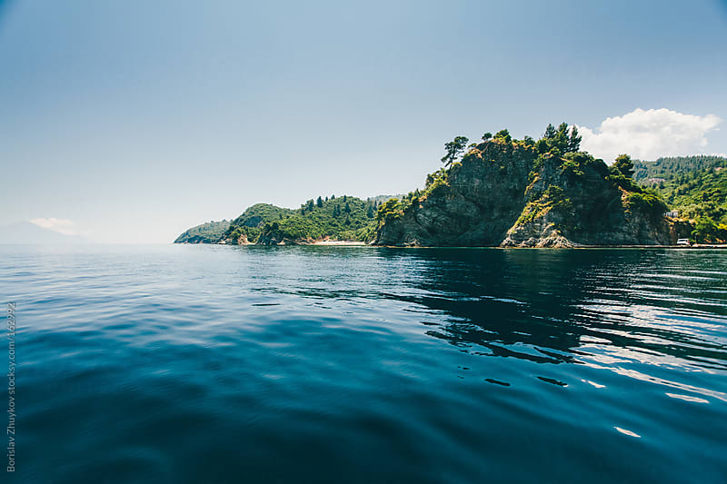 Views of the beautiful island in the sea by Borislav Zhuykov for Stocksy United
