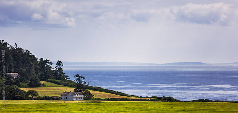 Landscape of Ebey's Landing on Whidbey Island by Suprijono Suharjoto for Stocksy United