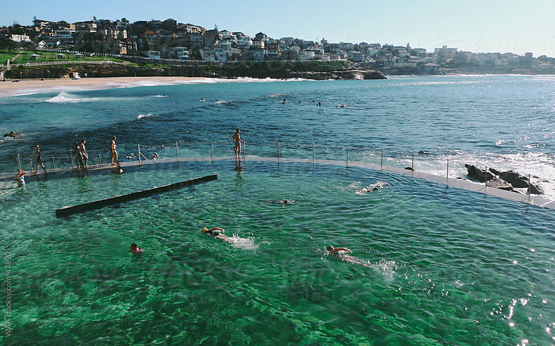 Early Morning Swim, Bondi Beach by WAA for Stocksy United