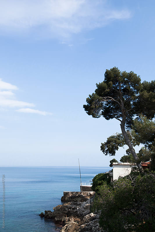 French coast at the cote d'azur with some houses by Robert Kohlhuber for Stocksy United