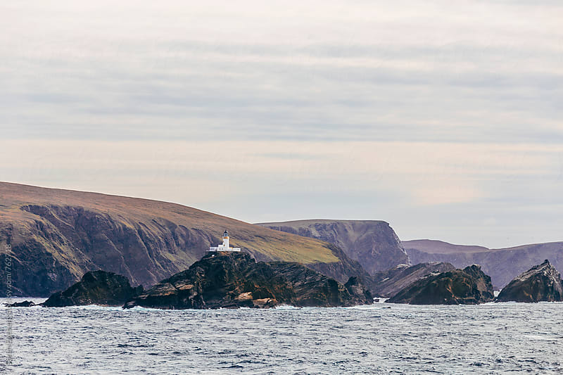 Lighthouse on the Shetland Islands by Soren Egeberg for Stocksy United