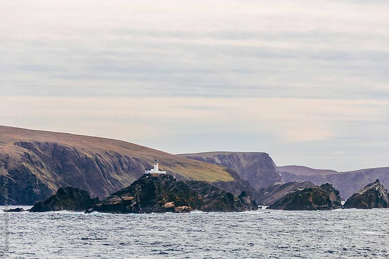 Lighthouse on the Shetland Islands by Søren Egeberg Photography for Stocksy United