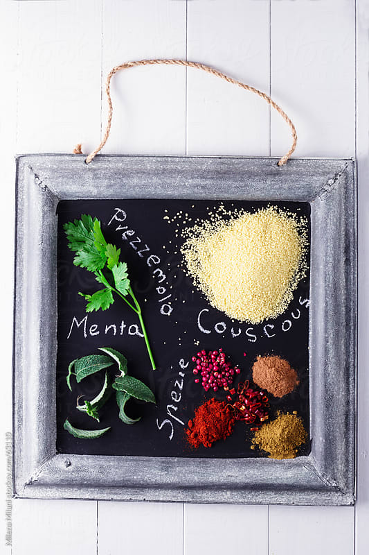 cous cous ingredients by Milena Milani for Stocksy United