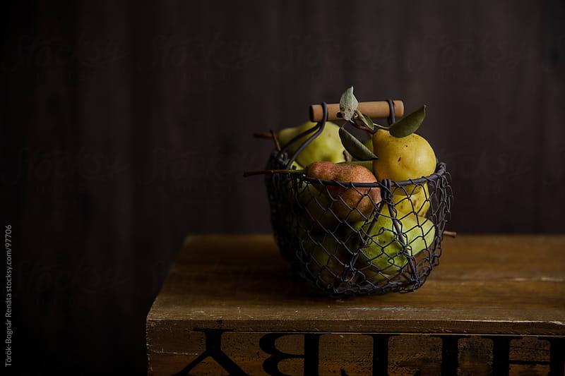 Pears in a basket by Török-Bognár Renáta for Stocksy United