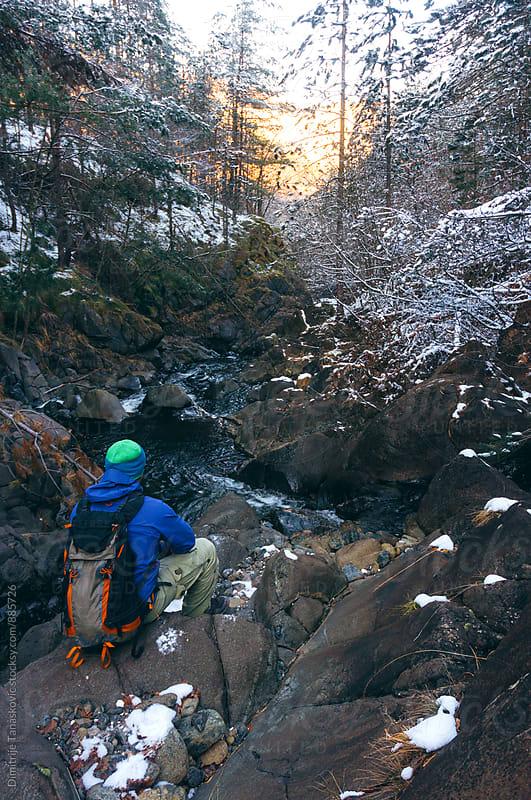Man hiking in the nature by Dimitrije Tanaskovic for Stocksy United