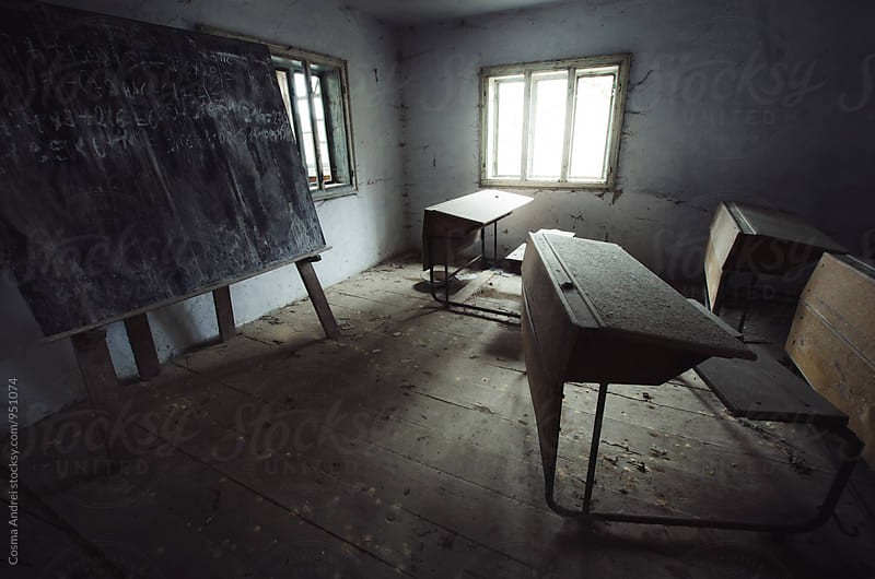 Abandoned haunted school by Cosma Andrei for Stocksy United