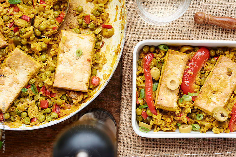 Arroz con Tofu by Harald Walker for Stocksy United