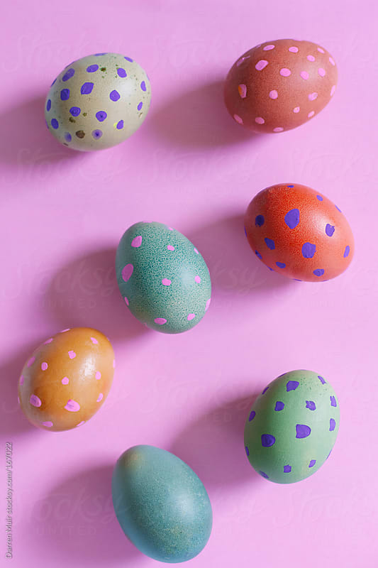 Colorful decorated Easter eggs. by Darren Muir for Stocksy United