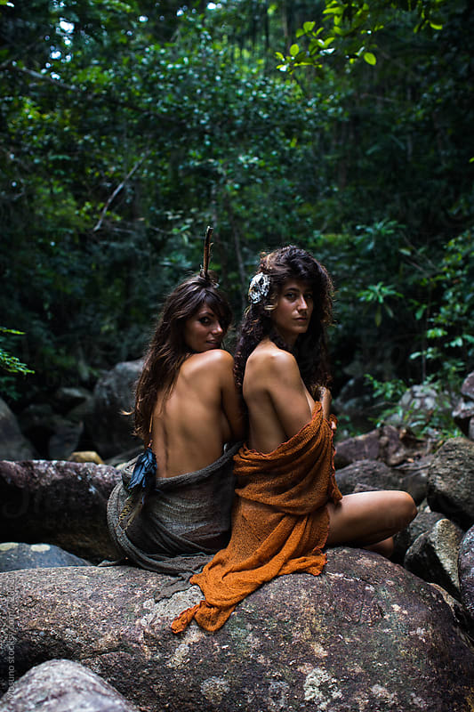 Gorgeous Shirtless Women in the Jungle by Mosuno for Stocksy United