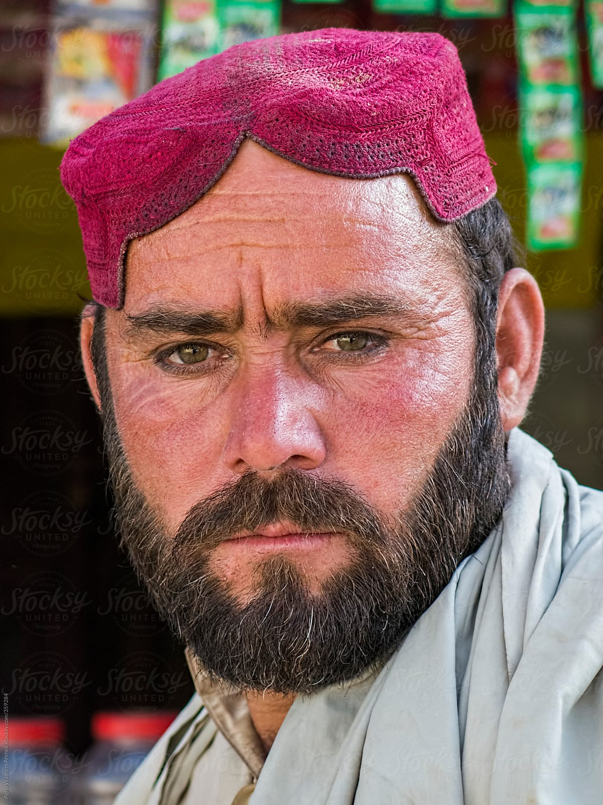A Pashtun Tribal Middle Aged Man by Agha Waseem Ahmed