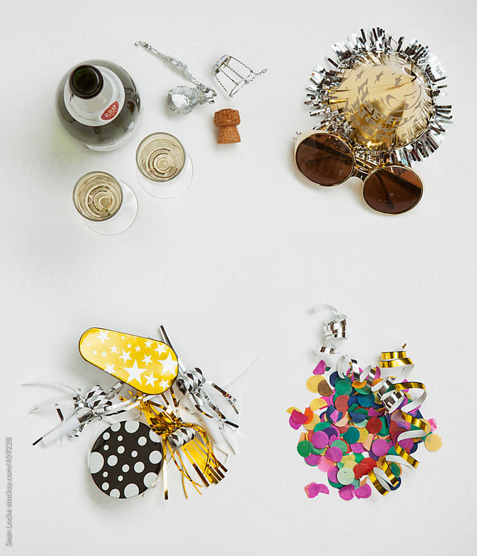 NYE: Collection Of Items For New Year's Eve Party by Sean Locke for Stocksy United