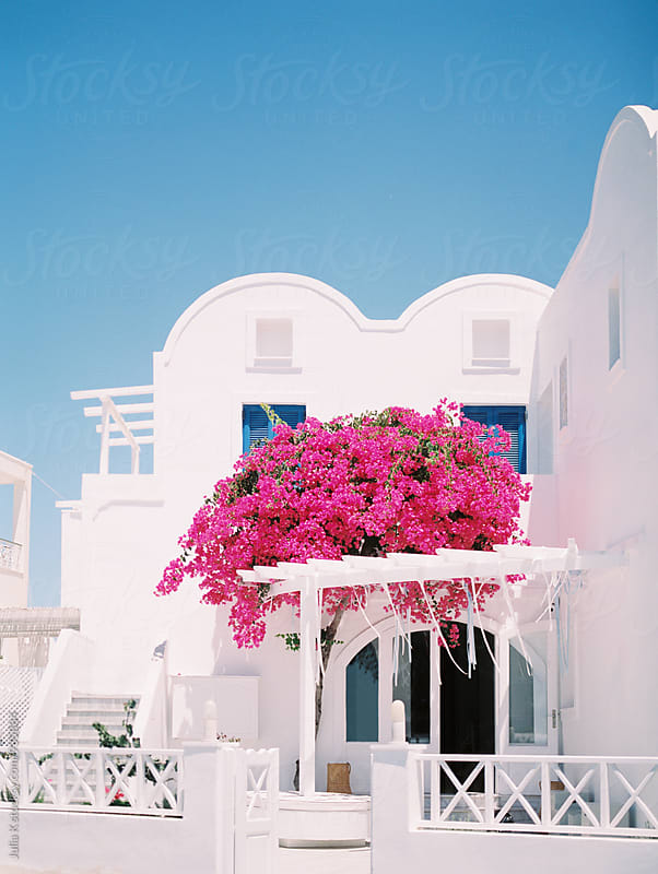 Traditional building at Santorini, Greece by Julia K for Stocksy United