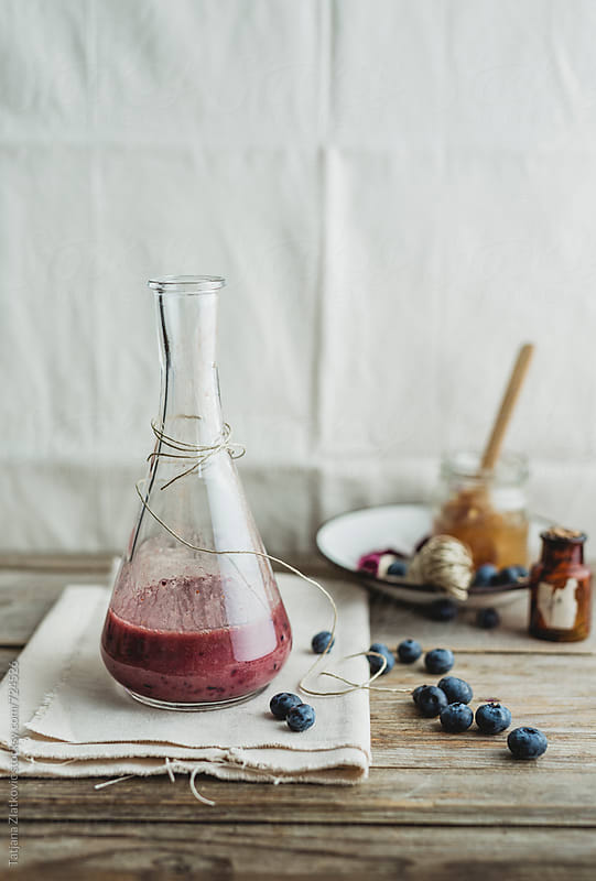 Blueberry smoothie by Tatjana Ristanic for Stocksy United