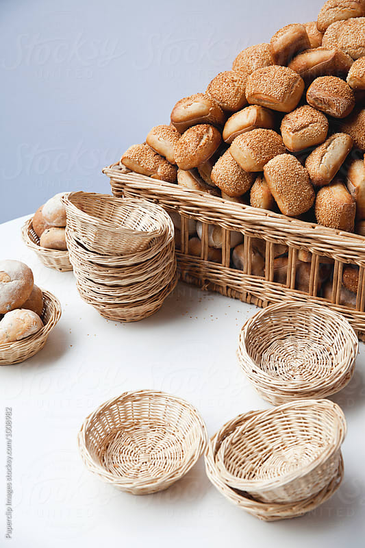Bread table by Paperclip Images for Stocksy United