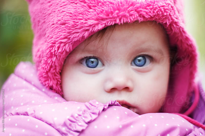 Portrait of an adorable baby girl by Jovana Rikalo for Stocksy United