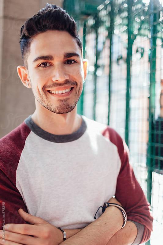 Handsome Caucasian Man Portrait in the City by Mattia Pelizzari for Stocksy United