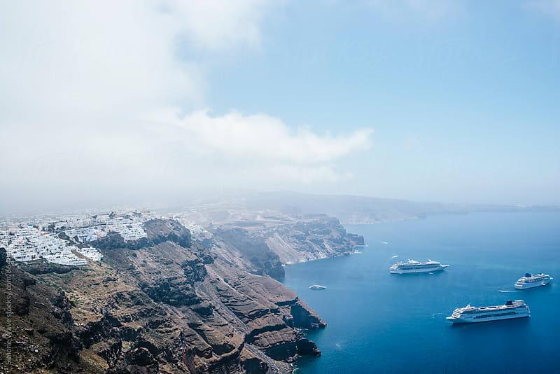 Cruise in Santorini  by GIC for Stocksy United