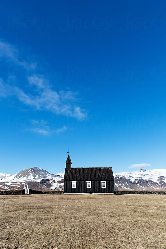 Budir Church in Iceland by Ruth Black for Stocksy United