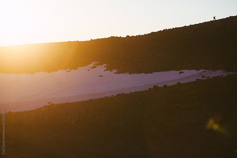 Hiking on a Ridge-line by Carl Zoch for Stocksy United