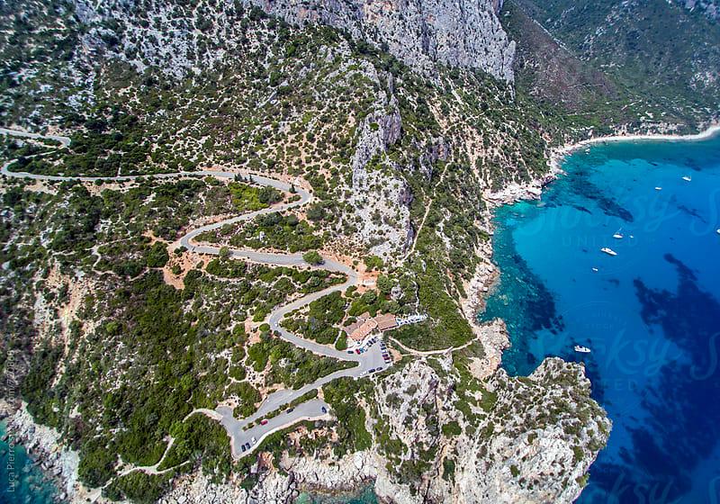 Aerial view of Perda Longa, Sardinia, Italy by Luca Pierro for Stocksy United