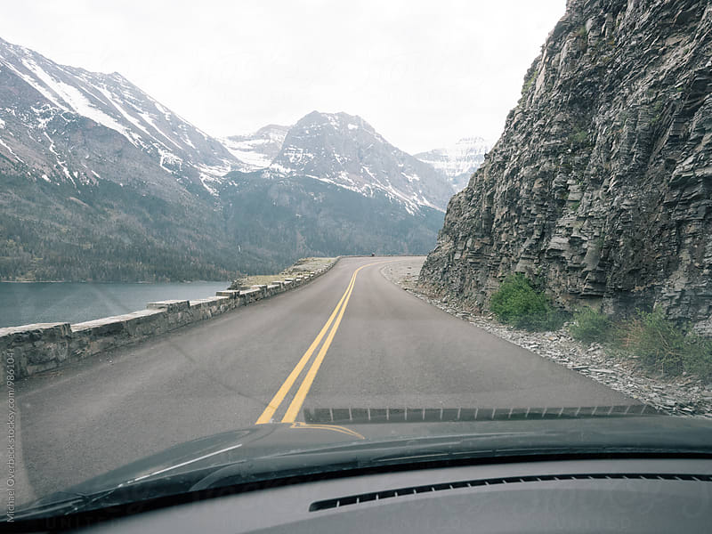 Road to Glacier NP by Michael Overbeck for Stocksy United