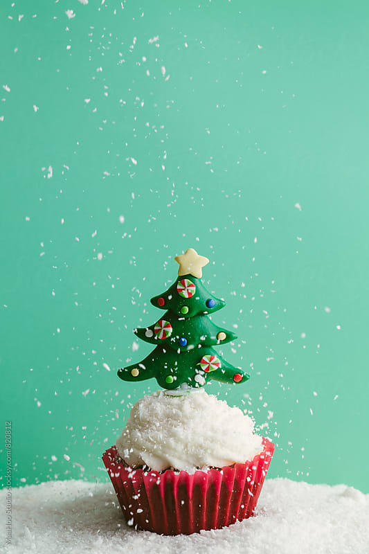 christmas cupcake by MaaHoo Studio for Stocksy United