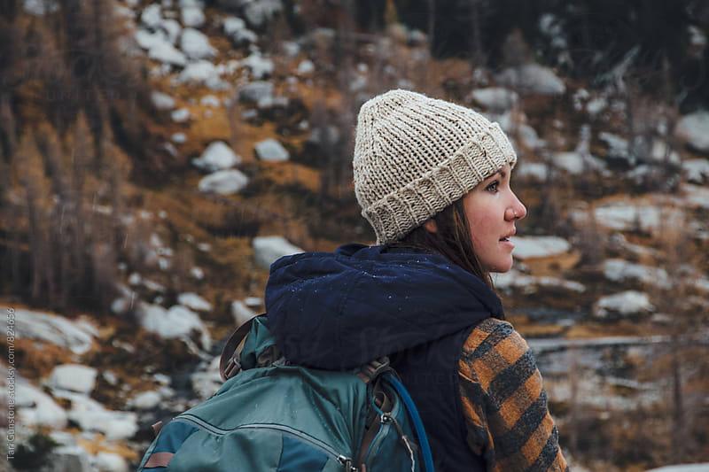 Female hiker in Autumn scenery by Tari Gunstone for Stocksy United