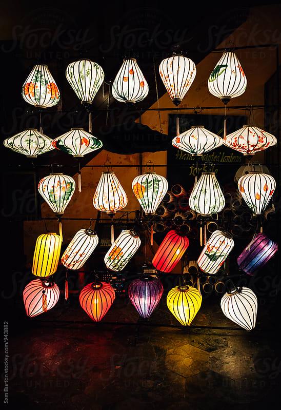 Chinese lanterns by Sam Burton for Stocksy United
