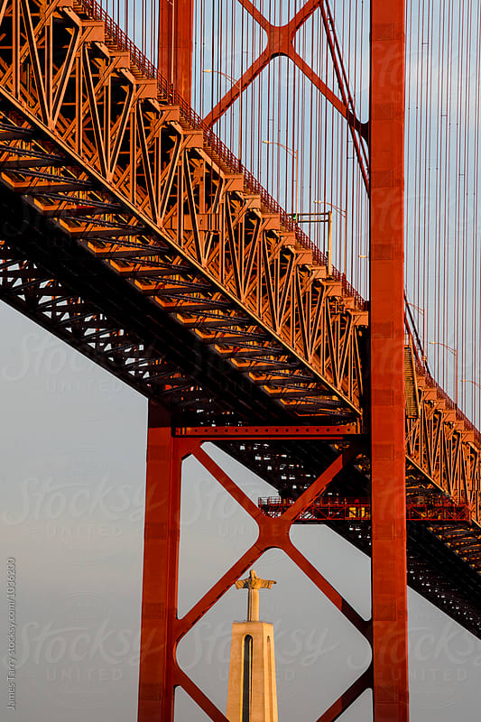 Ponte 25 de Abril Bridge  by James Tarry for Stocksy United