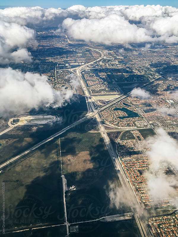 Flying over Miami, Florida by Jen Grantham for Stocksy United
