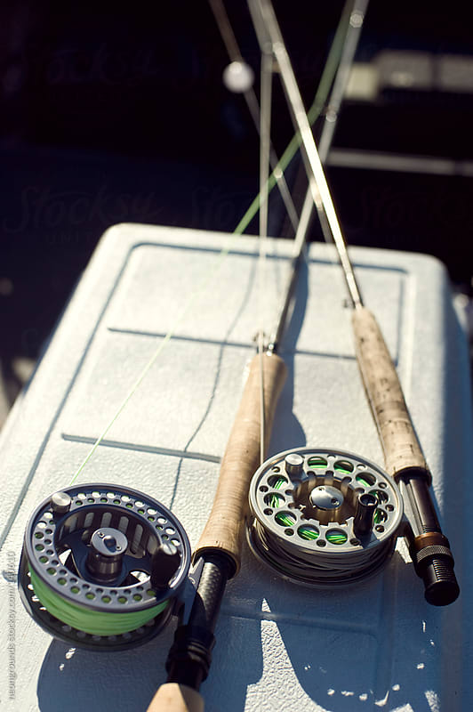 fly fishing rods by neongrounds for Stocksy United