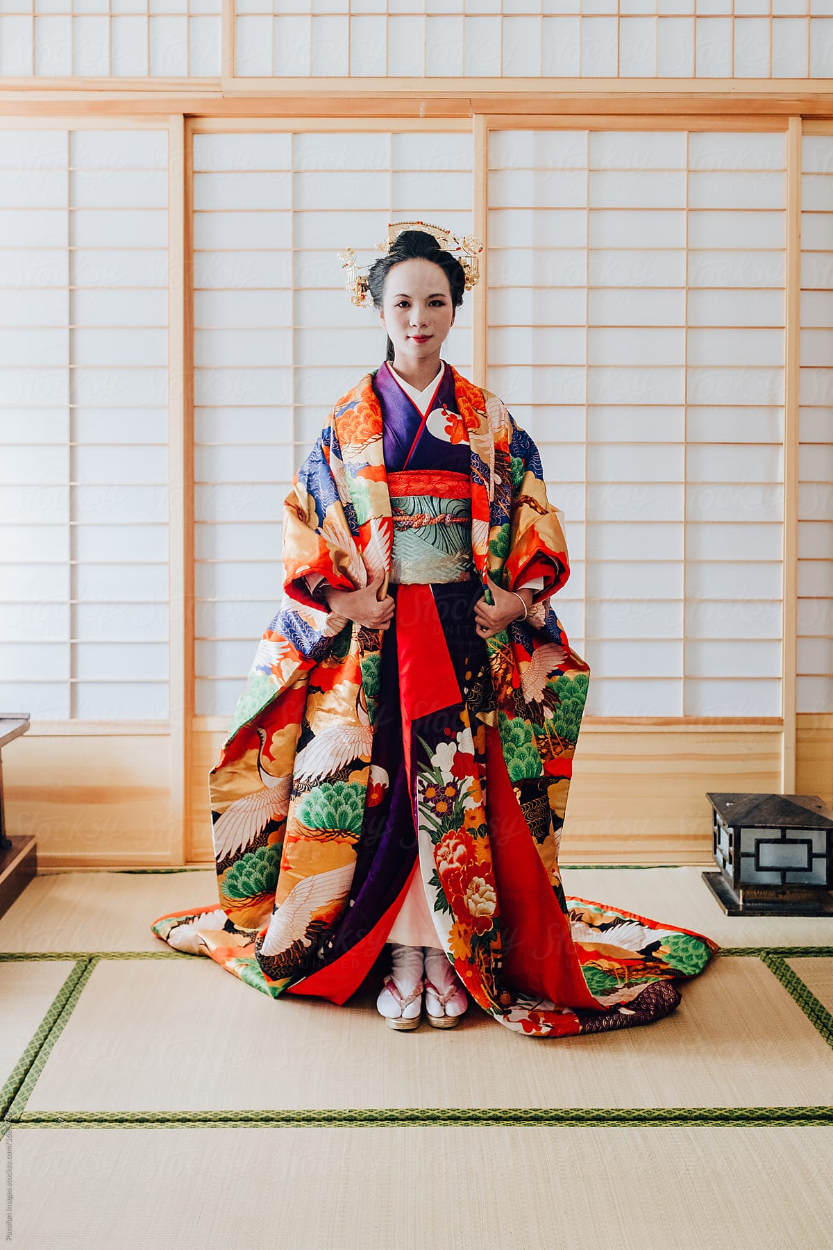 asian woman in traditional kimono clothing  stocksy united