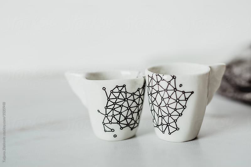 Artistic porcelain cups by Tatjana Ristanic for Stocksy United