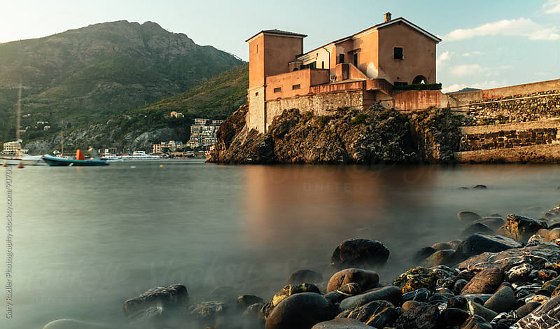 Building on the Beach at Levanto, Northern Italy by Gary Radler Photography for Stocksy United