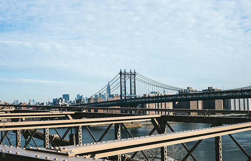 New York City skyline from Brooklyn Bridge by GIC for Stocksy United