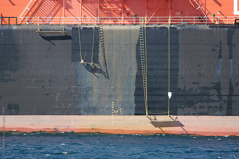 Paused maintenance paintwork on ship at lunch break by Ferenc Boros for Stocksy United