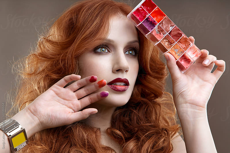 red palette beauty by Sonja Lekovic for Stocksy United