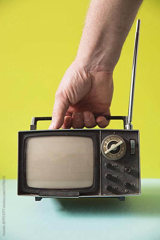 Vintage retro analogue television