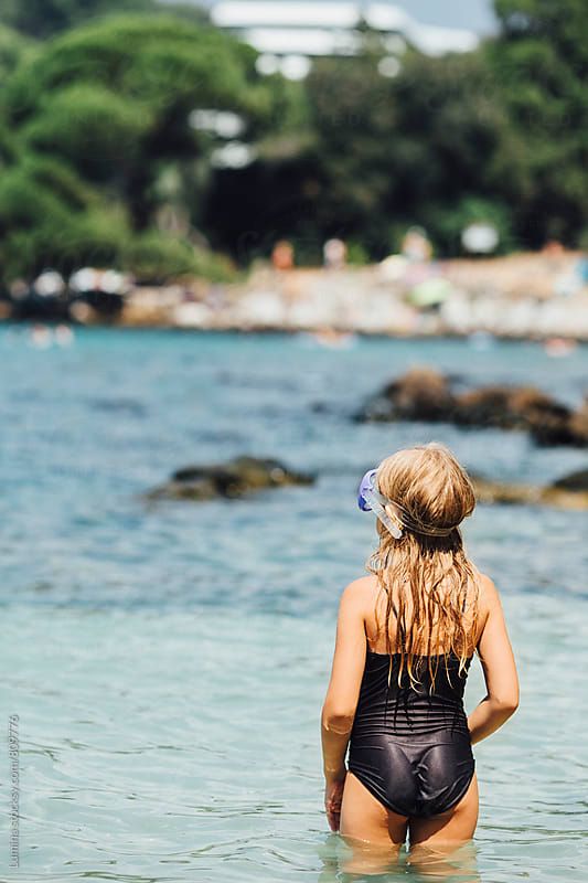 Little Girl in the Sea by Lumina for Stocksy United