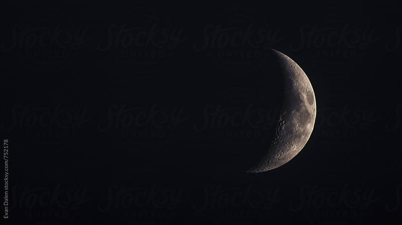 Crescent Moon: Waxing Crescent by Evan Dalen for Stocksy United