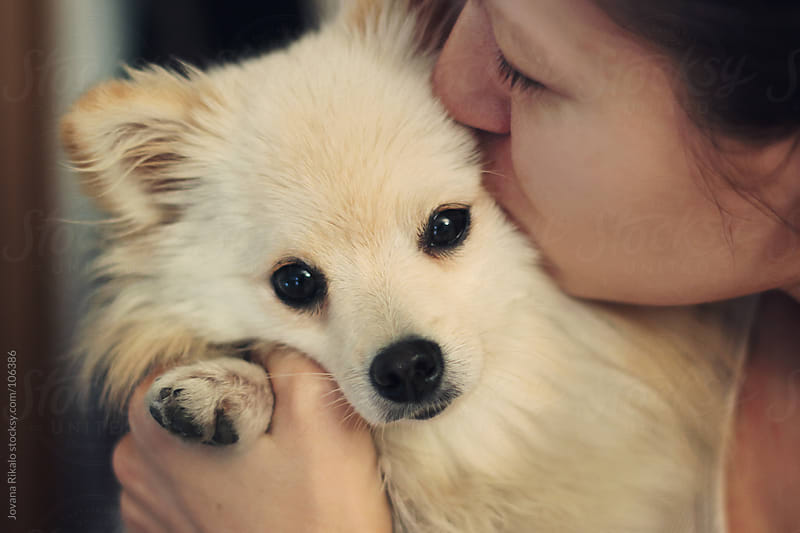Girl kissing her pet by Jovana Rikalo for Stocksy United