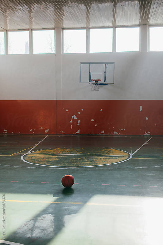 Basketball in sport hall by Ani Dimi for Stocksy United