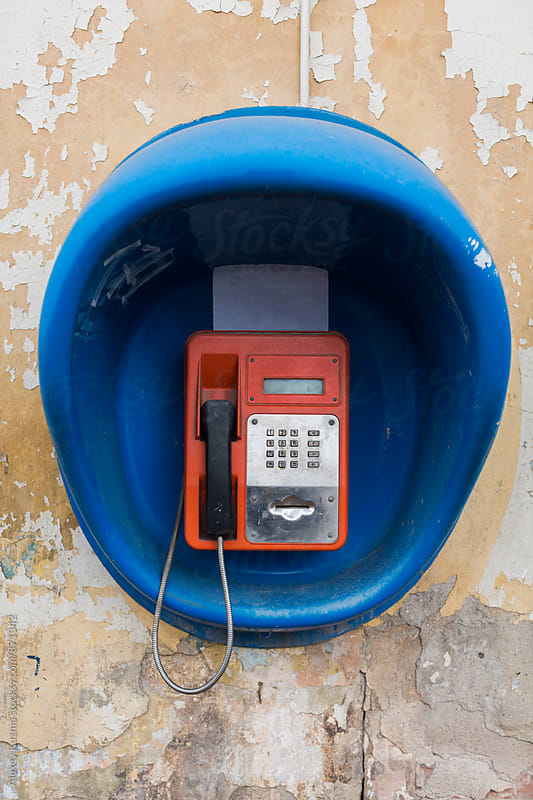 Old street red telephone by Alexey Kuzma for Stocksy United